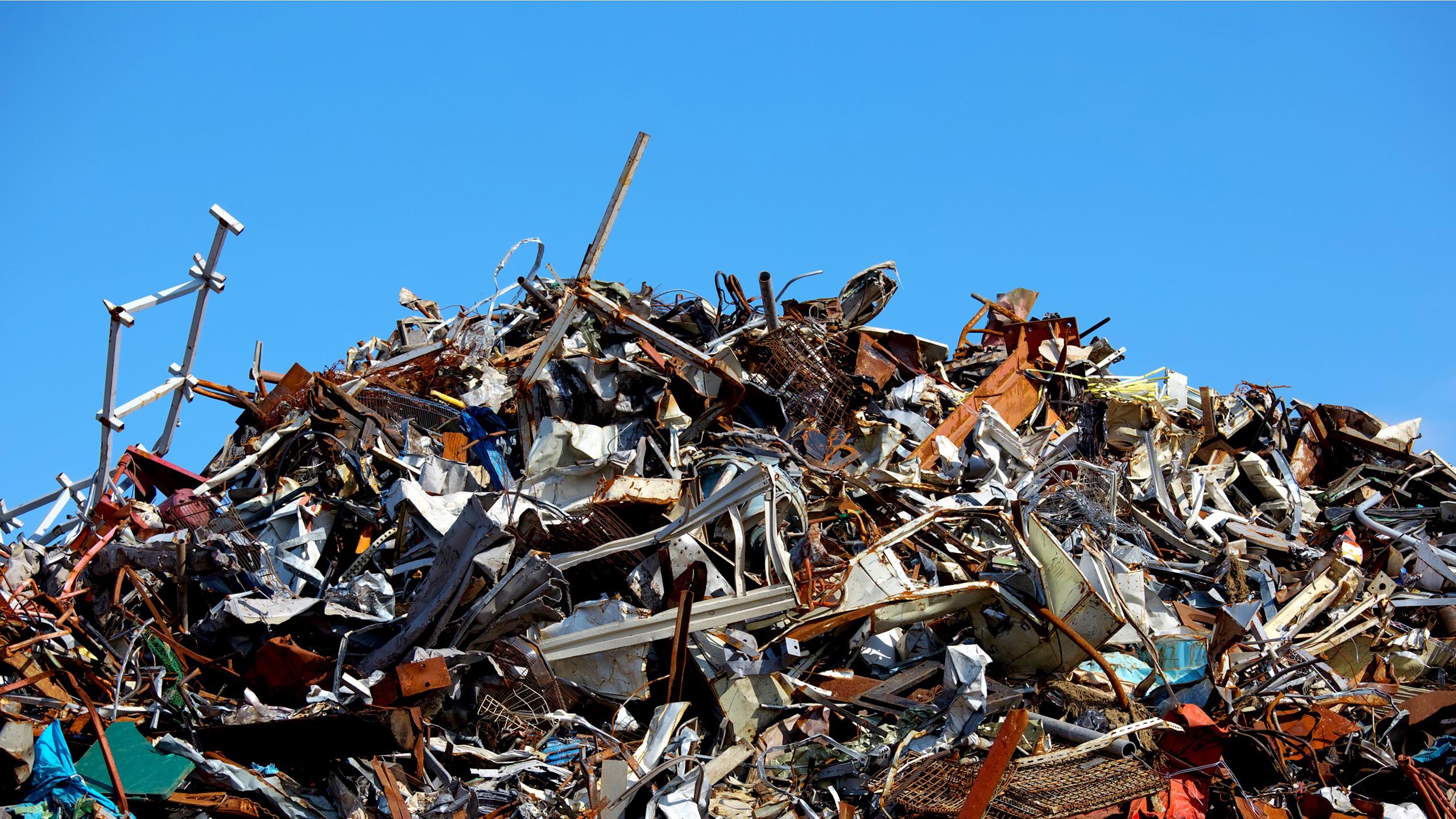 鉄屑、スクラップをリサイクルし、資源を有効活用致します!親切丁寧、高価買取!